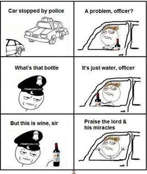 Drunk Driver stopped by Police
