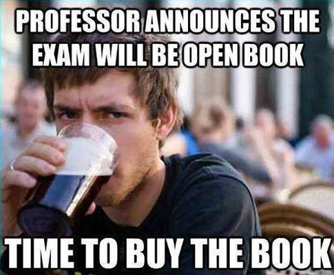 Exam will be open book