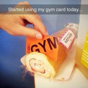 Gym card is not going to 'waist'