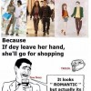 Holding GF's hands in malls