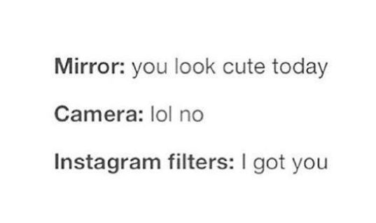 Mirror, Camera and Instagram