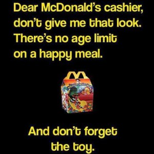 No age limit on Happy Meal