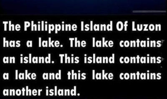 Recursive Island of Luzon
