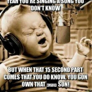 Singing a song you don't know