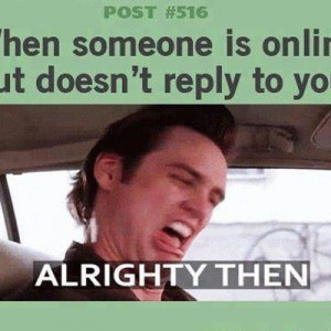 Someone ignores you online