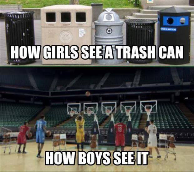 Trash cans as seen by Boys