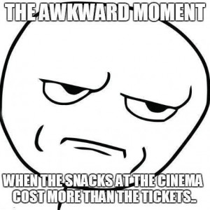 When Snacks at the cinema