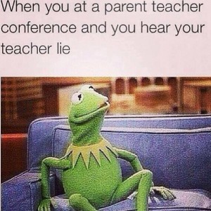 When a teacher lies