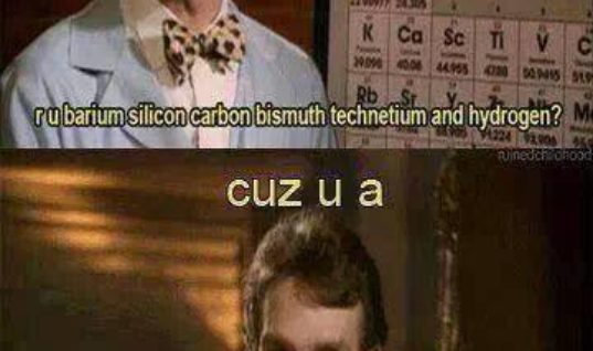 You are Barium Silicon