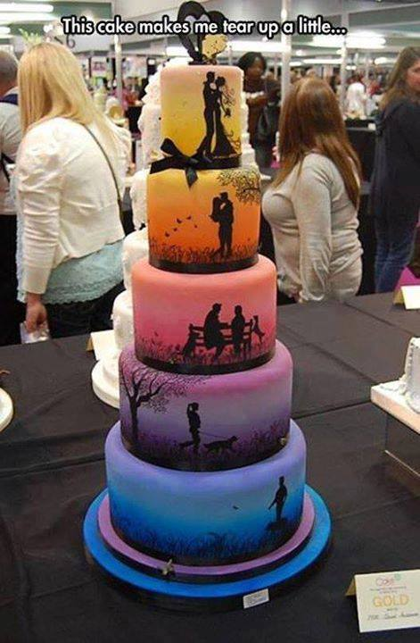 At a Cake Exhibition