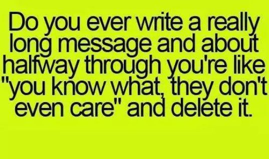 Deleting a really long message
