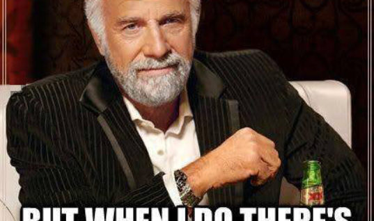 I Don't always go to charity