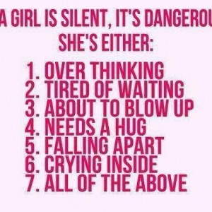 If a girl is silent