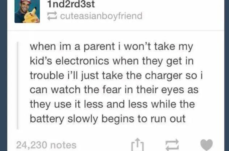 Just Take away the Charger