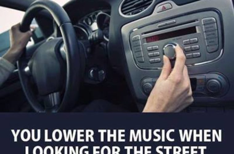 Lowering the car music