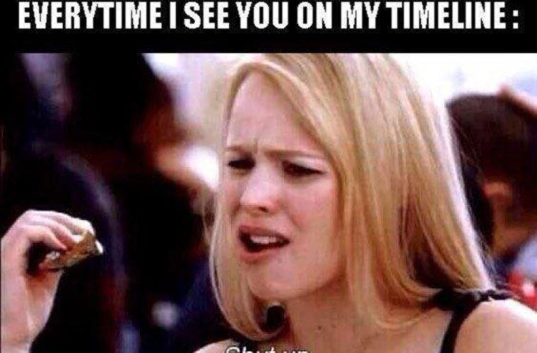 Seeing you on my Timeline
