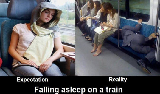 Sleeping in a Train