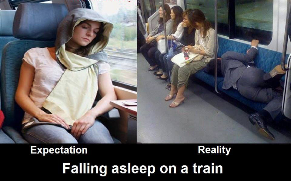 Funny Sleeping Meme : Sleeping in a train funny pictures quotes memes funny images