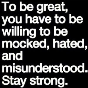 Stay Strong to be Great