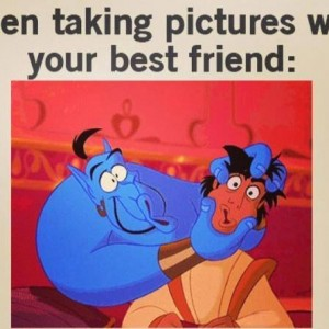Taking picture with Best Friend