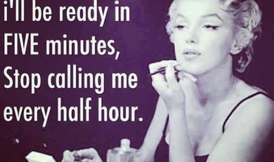 Telling a woman to get ready