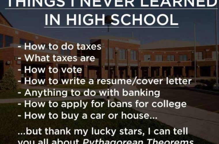 Things I never learnt in school
