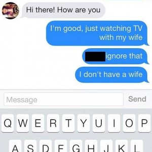 Watching TV with my Wife