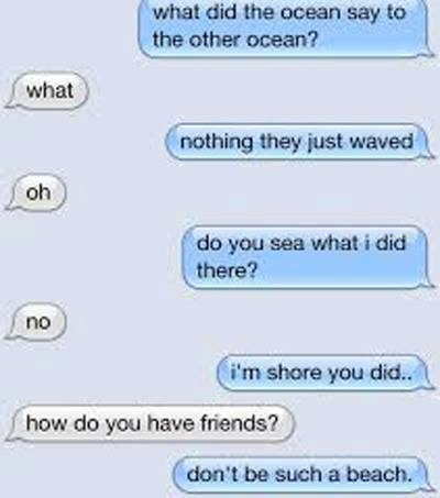What did the ocean say to other ocean