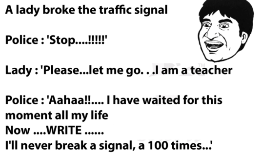 When a Teacher Broke the traffic signal