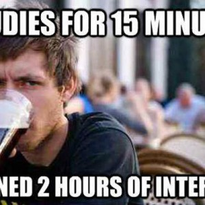 15 minutes of studying