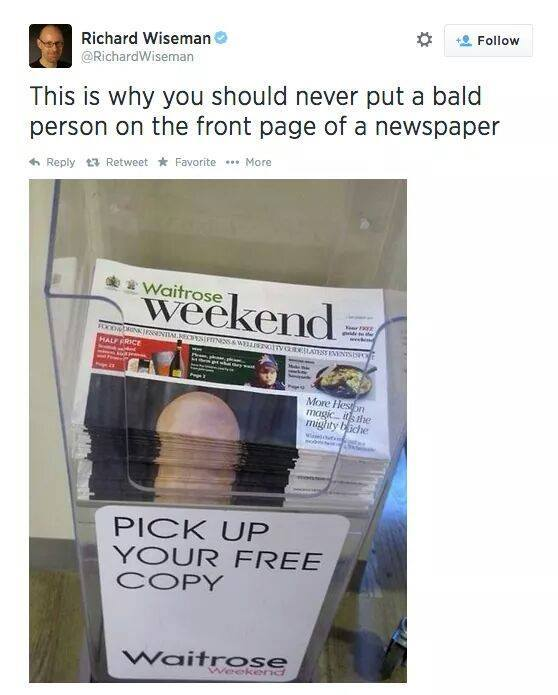 Bald Person on front page