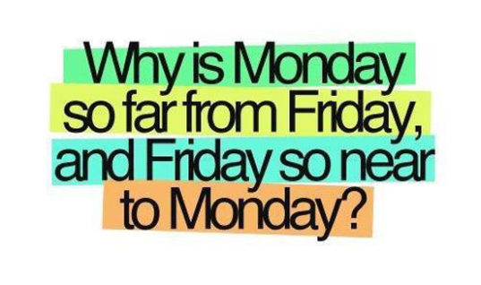 Between Monday and Friday