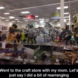 Bored at Crafts Store