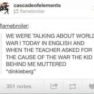 Cause of World War 1