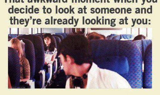 Decide to look at someone