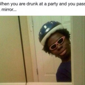Drunk at a party