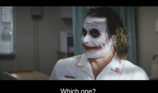 Hilarious scene involving the joker