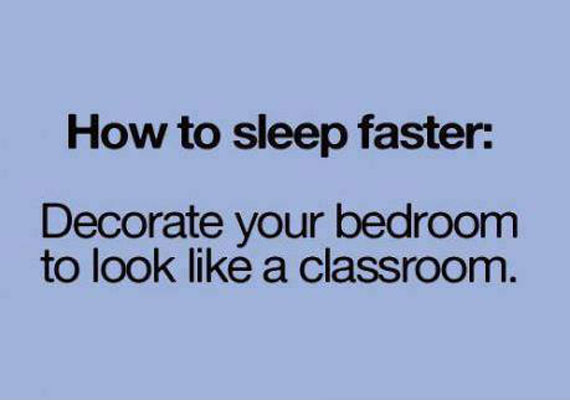 How to sleep faster