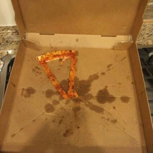 Left a slice of Pizza