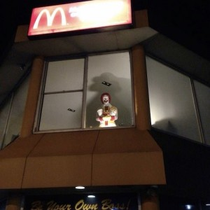 McD guy watches from top