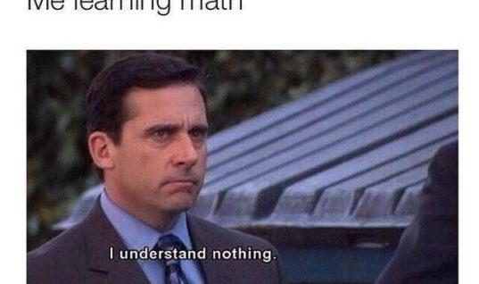 Me learning Math