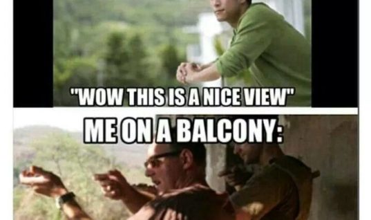 Me on a Balcony