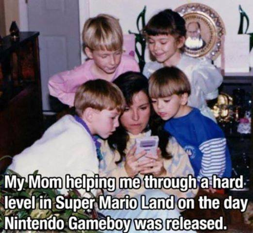 Mom helps in Super Mario