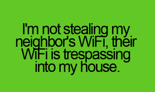 Neighbor's WiFi