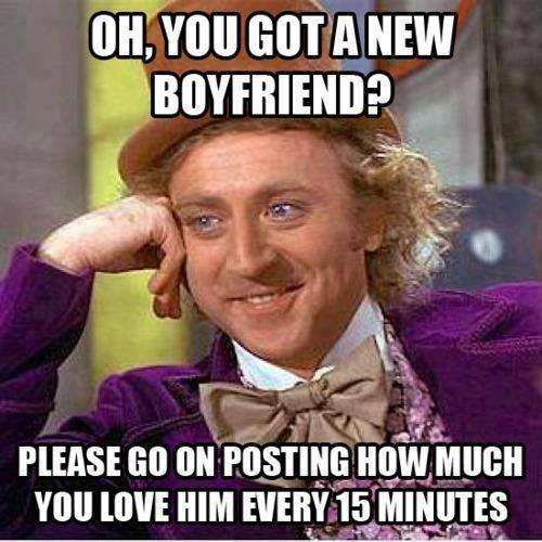 Oh you got a new BF