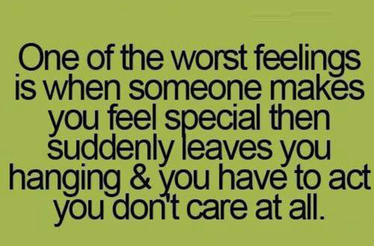 One of the worst feelings