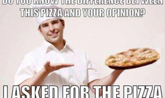 Pizza Vs Opinion