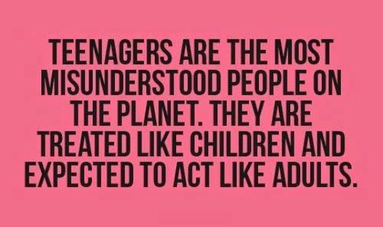 Teenagers most misunderstood