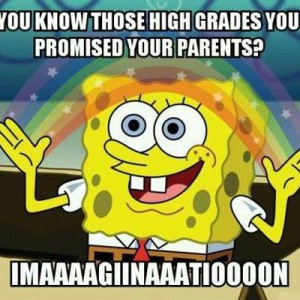 Those high grades you promised