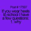 Wearing Heels to school